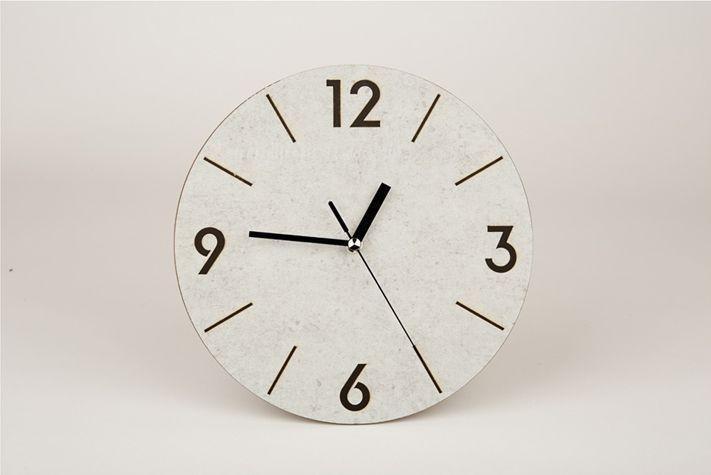 MQ201 Laser Burning Noiseless Wall Clock AUTOMATIC STYLE SECOND HAND 24x24x3.5cm #MQ201