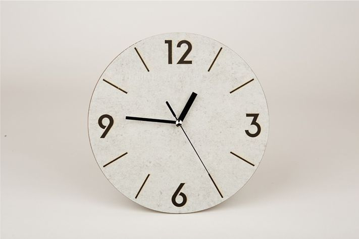 MQ201 Laser Burning Noiseless Wall Clock AUTOMATIC STYLE SECOND HAND 24x24x3.5cm #MQ201