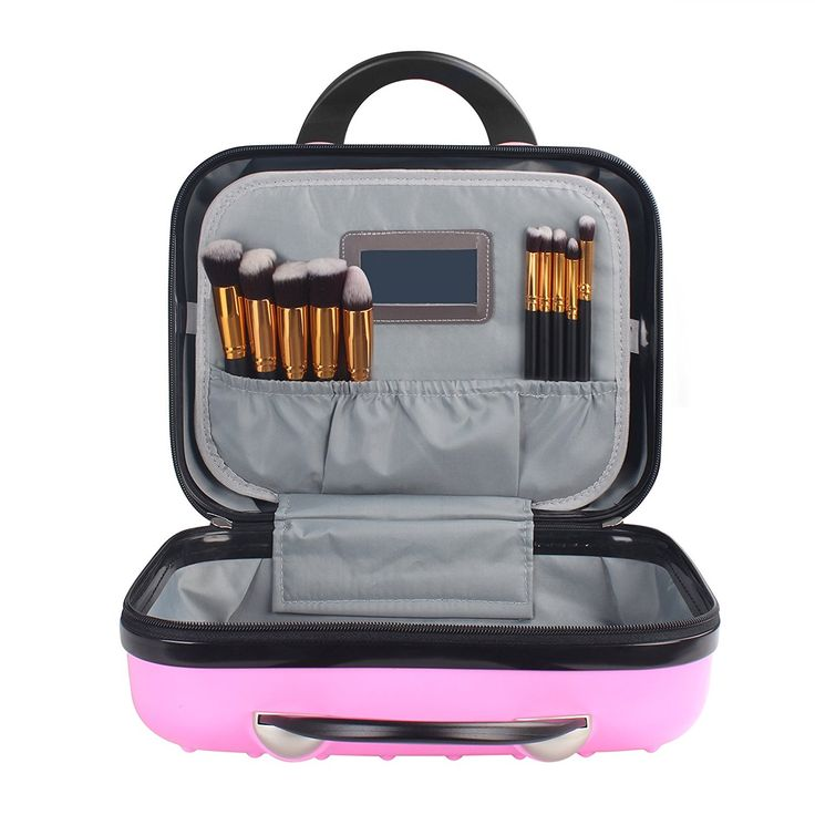 Amazon.com | Payeel Portable Beauty Case Makeup Suitcase Cosmetic Train Cases (Pink) | Suitcases