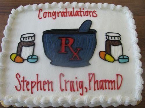 Pharmacy Graduation Cake Ideas cakepins.com