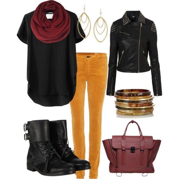 """""""Rocker Chic for Fall"""" #fall #fashion #rocker"""