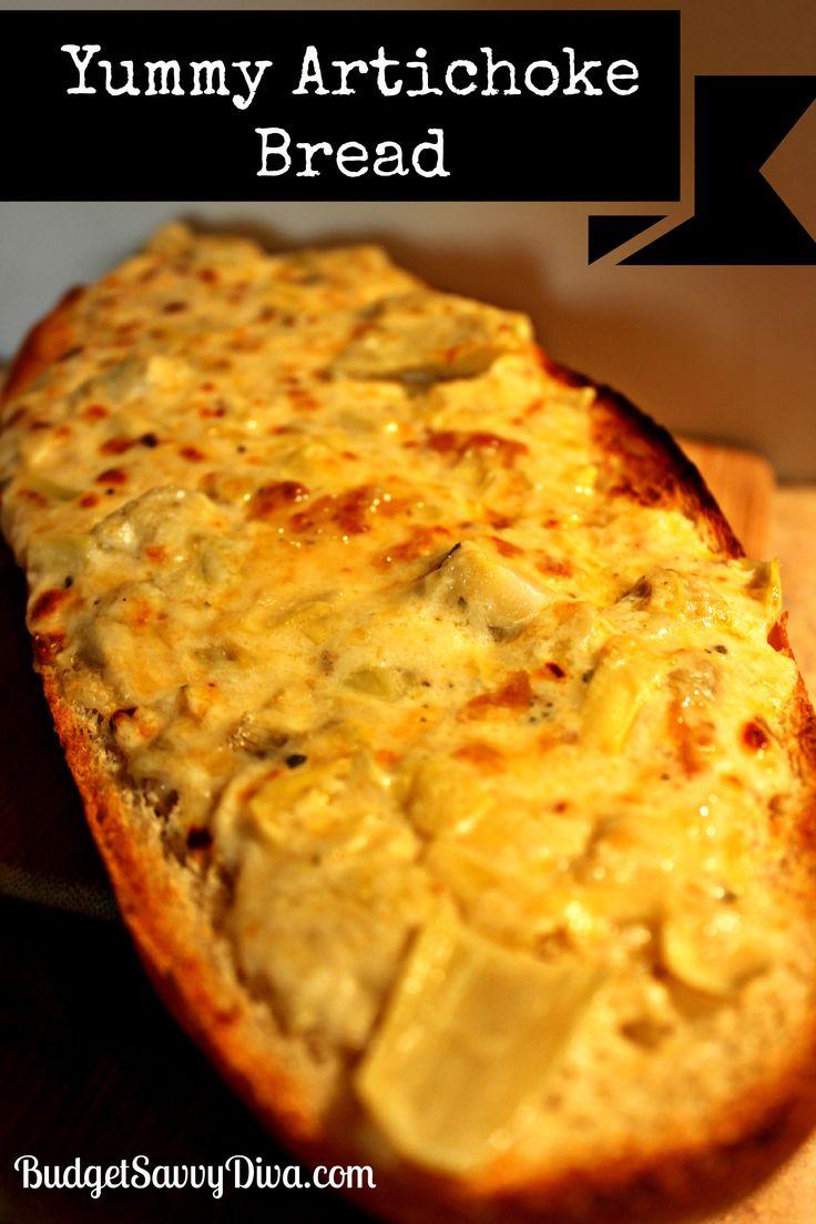 ... Bread Recipes, Artichokes Dips, Yummy Artichokes, Artichokes Breads