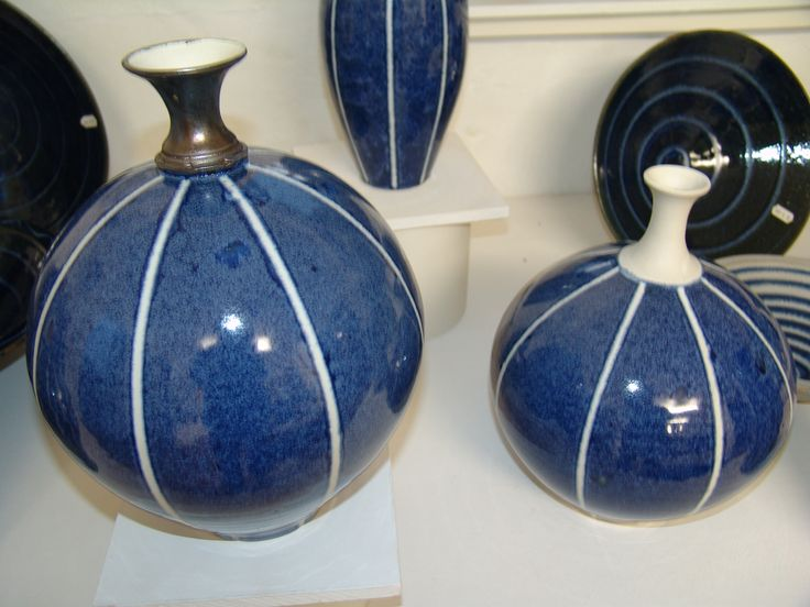Range of ware using tape and wax during the glazing process