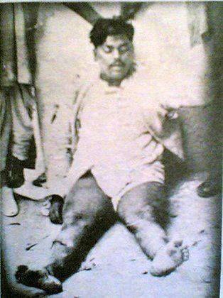 A dead Chandra Sekhar Azad Solute to his Amazing  spirits...Jai hind,