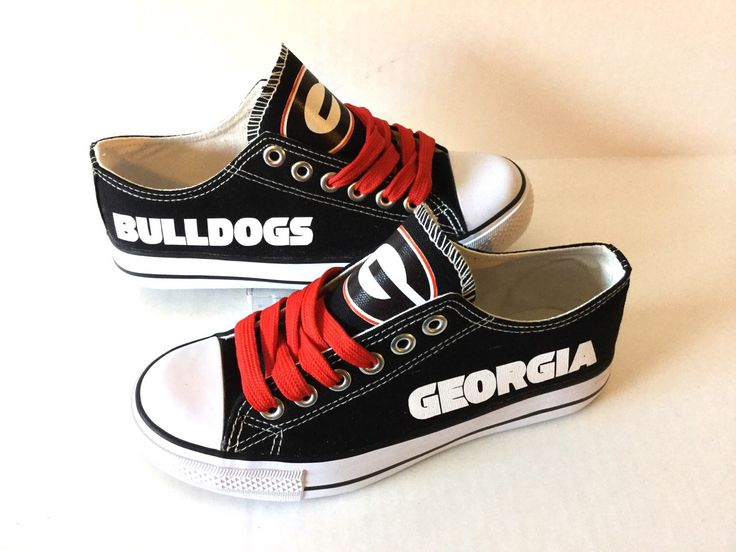 Georgia Bulldogs Women's Athletic Shoes by Sportzunlimited on Etsy https://www.etsy.com/listing/248235375/georgia-bulldogs-womens-athletic-shoes