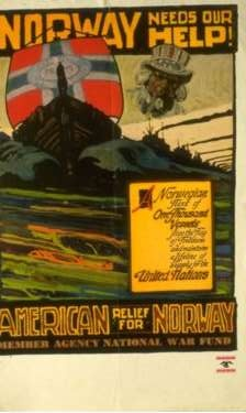 """""""Help Norway"""" poster from WWII"""