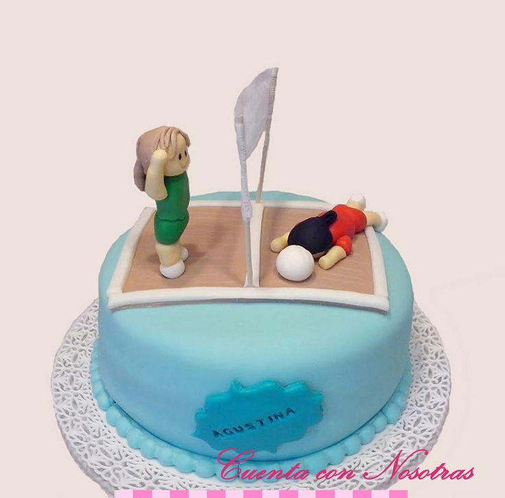 Torta Voleibol Voleyball Cake