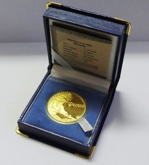 Buy 1999 1oz Gold Protea - The Gold Miner for R22,000.00