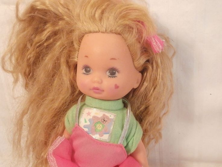 """Not exactly sure who she is...Mattel 7"""" doll (blonde, green eye heart on cheek 1990) ...one of my many dolly rescues"""