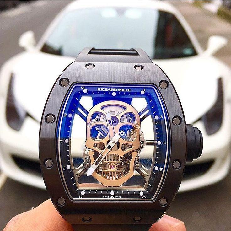 """A $670,000 Richard Mille RM 52-01 Skull  Photo by @elitetimenyc"""