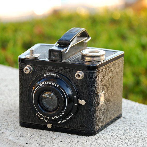 Vintage Kodak Brownie Flash Six-20 Camera Mid Century Modern  I've lately really gotten into photography!