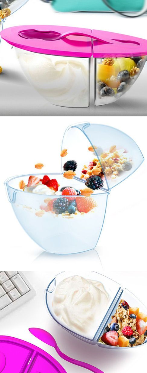 Flip n' Pour Yogurt Container // #newyearsresolution #healthy