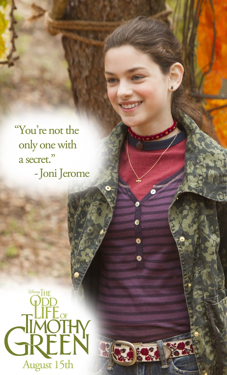 Joni Jerome: Odeya Rush, Katie Disney, Joni Jerome, Dvd Combos, Combos Packs, Timothy Green, 649 Talk, Odd Life, 0111Disney Movie