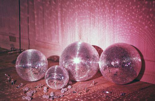 disco balls as party decor