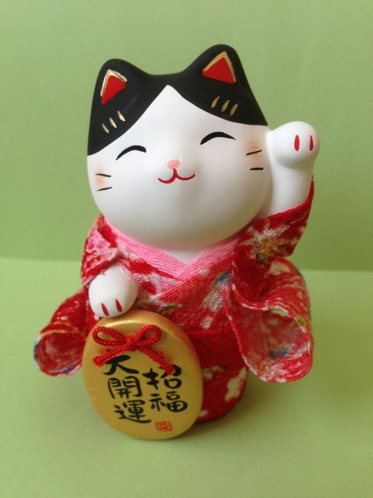 Crepe Kimono Red YAKUSHIGAMA Setoyaki (from JAPAN) Maneki Neko Ceramic Lucky Cat Good Luck Charm. In the case of multiple purchase, it will be shipping the commodity for all,