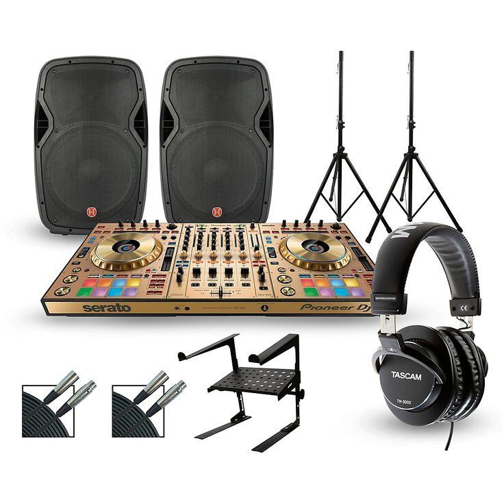 Pioneer DDJ-SZ2 Gold Edition with Harbinger V1015 DJ Package