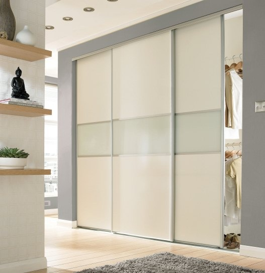 Contemporary fineline standard sliding wardrobe doors