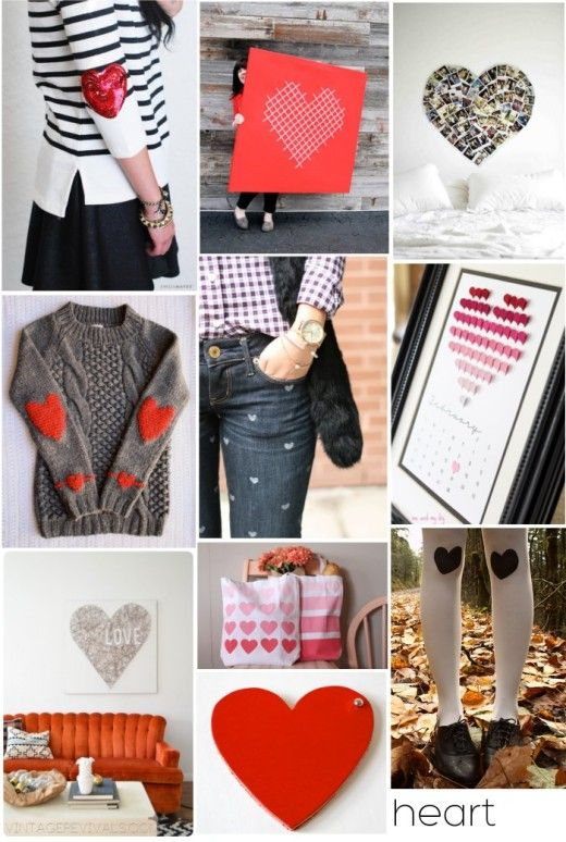 Our 12 favorite heart DIYs - perfect for Valentine's Day.