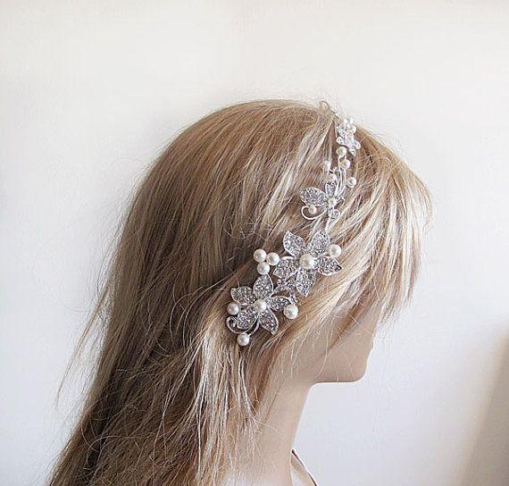 Bridal comb Wedding comb Pearl and  Crystal Wedding  by ADbrdal, $47.00