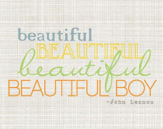 John Lennon Beautiful Boy Art Print by ScribbleandScribe on Etsy, $12.00