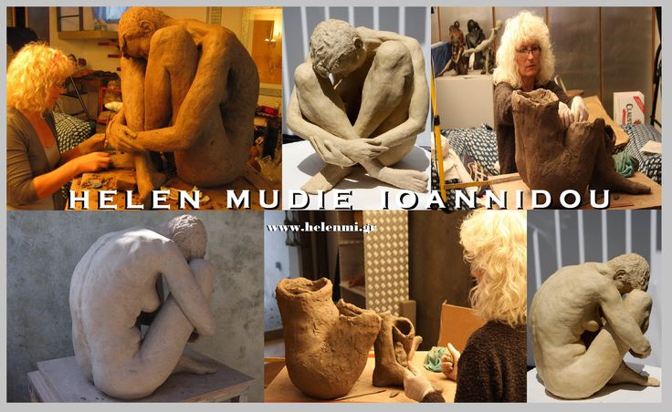 'Pax' on Exhibition at the 52nd Pan-Hellenic Ceramic Exhibition in Maroussi, Athens, Greece. Helen Mudie-Ioannidou is a figurative sculptor based out of Greece. Working mostly with clay, expresses herself through the forms. Select sculptures are cast in limited edition bronze. See more of her work at: www.helenmi.gr