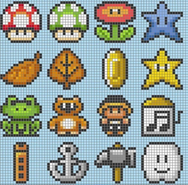 Super Mario perler beads patterns