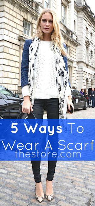 how to wear a scarf in hot weather