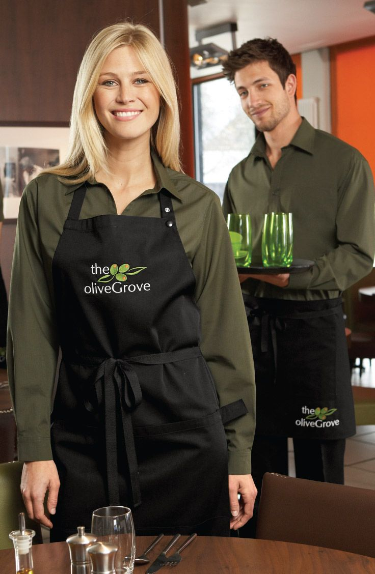 White apron homebase - Embroidery Flexible Enough To Be Used On Almost Any Part Of Any Garment Best