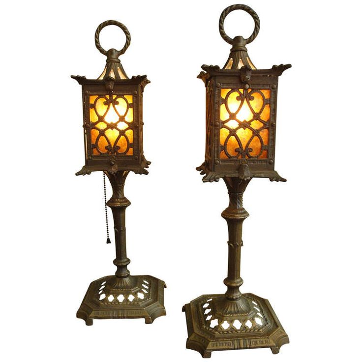 Early 20th Century Spanish Revival Mica Table Lamps