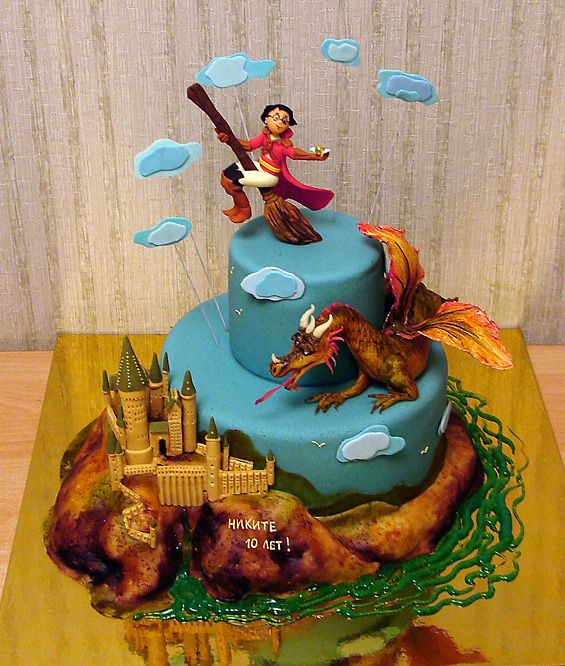 Amazing Harry Potter Flying Over Hogwarts Cake made by Art Cake