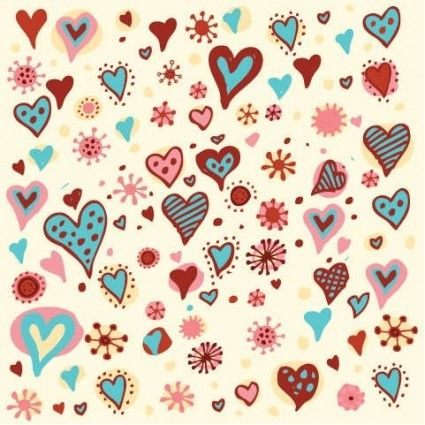 Valentine's Day Hearts Pattern Vector Graphic