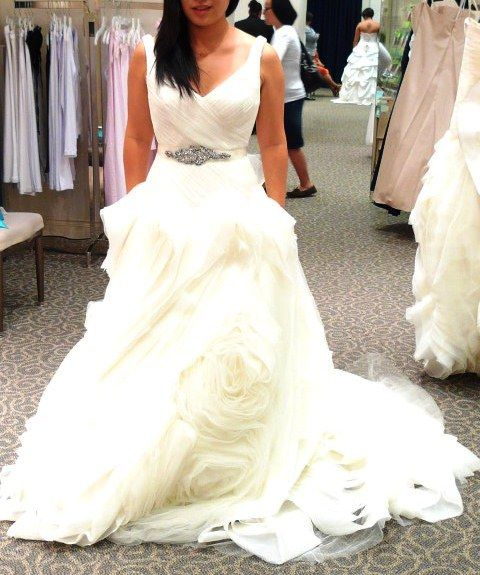 My White by Vera Wang Experience at David's Bridal. (petite bride to be) « Weddingbee Boards