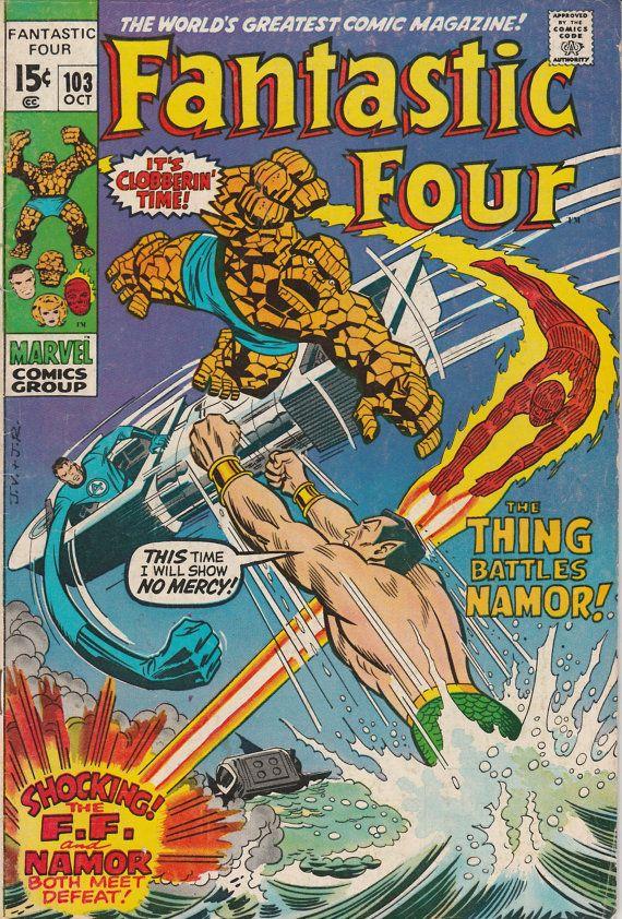 Fantastic Four Vol. 1 No. 103  1970  Fantastic Four vs, Sub-Mariner by TheSamAntics