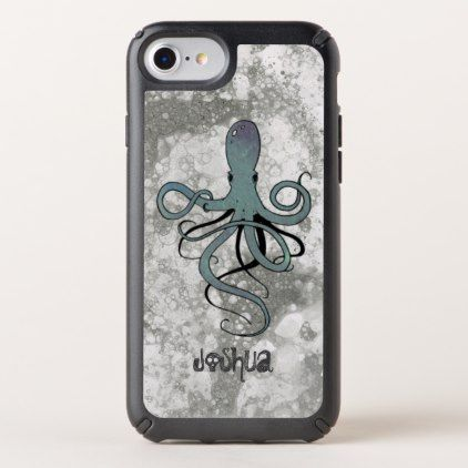 Underwater Octopus Speck iPhone Case - ocean side nature waves freedom design