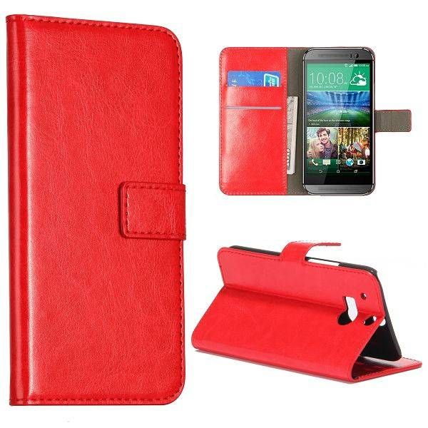 Rood 3-in-1 bookcase hoesje voor HTC One M8