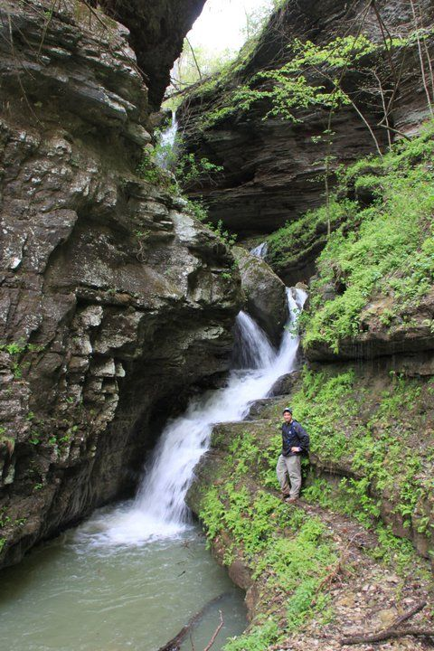 Indian Creek hike to Tunnel Cave Falls (Buffalo River)
