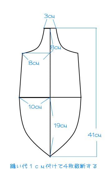 無料型紙 サンボバッグ ショルダーバッグ ハンドメイド 作り方
