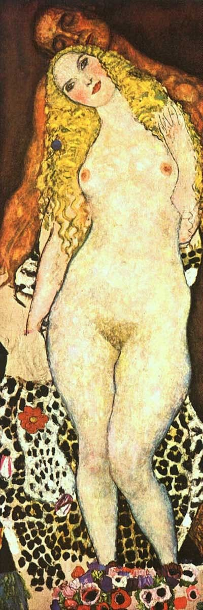 Adam and Eve 1917 - 1918 by Gustav Klimt