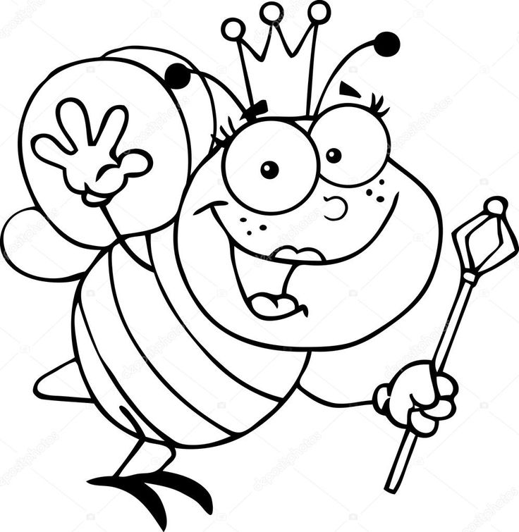 Related image Bee coloring pages, Animal coloring pages