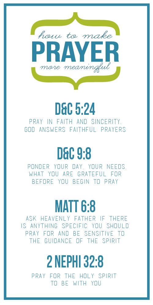 Come Follow Me Handouts:: How Can I Make My Prayers Meaningful?