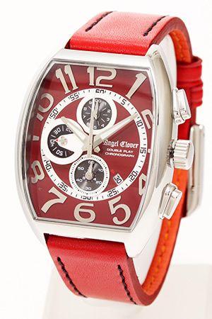 エンジェルクローバー腕時計[AngelClover時計](AngelClover腕時計エンジェルクローバー時計)ダブルプレイ(DoublePlay)メンズ時計/レッド/DP38SRERE
