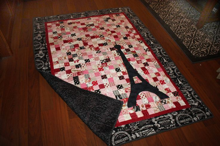 Love from Paris Quilt - Beautiful Gift for someone who is in love with Paris.