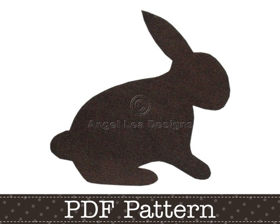 Applique Template, Rabbit, Bunny, Animal, DIY, Children, PDF Pattern by Angel Lea Designs