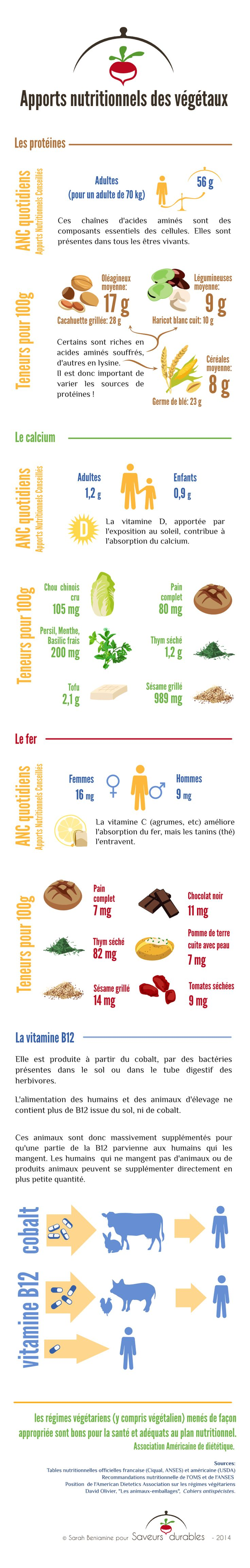 Apports nutritionnels des végétaux