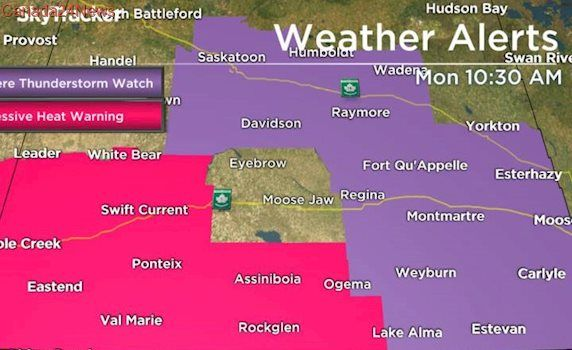 Regina under severe thunderstorm watch