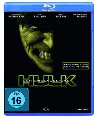 Der unglaubliche Hulk  2008 USA      Jetzt bei Amazon Kaufen Jetzt als Blu-ray oder DVD bei Amazon.de bestellen  IMDB Rating 6,9 (173.185)  Darsteller: Edward Norton, Liv Tyler, Tim Roth, William Hurt, Tim Blake Nelson,  Genre: Action, Sci-Fi, Thriller,  FSK: 12