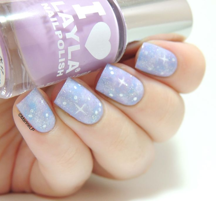 Marine Loves Polish: Joyeux anniversaire intergalactique Venuss! Pastel galaxy nail art