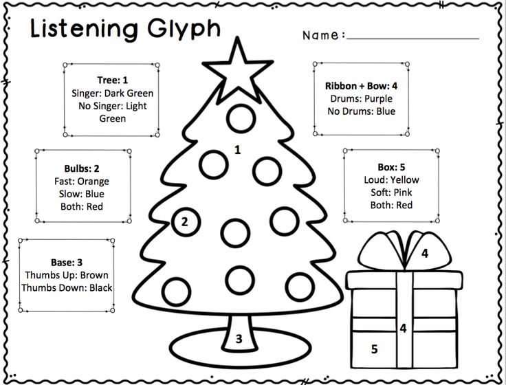 Christmas listening glyphs. These Listening Glyph
