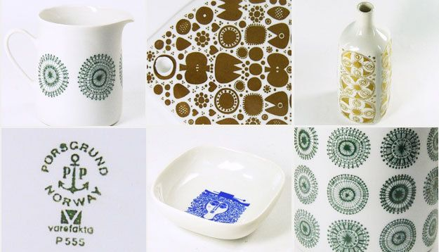 Vintage Porsgrund, Norway, ceramics, pottery