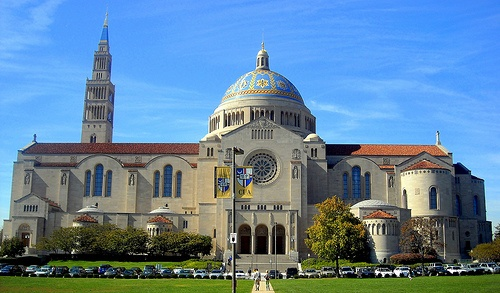 The Catholic University of America is infusing ethics into all courses offered in its new business school. (Photo of  Basilica of the National Shrine of the Immaculate Conception on Catholic University of America's campus. Photo via NCinDC)